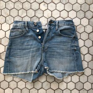 Frame denim le original cut off shorts
